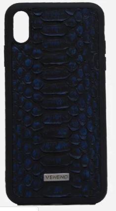Phone case iphone X Pitón negro azul