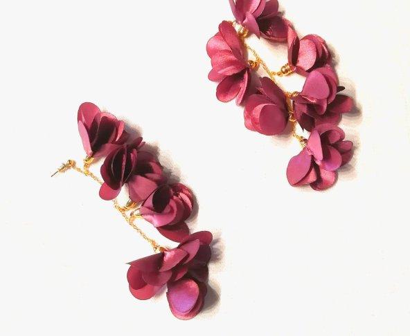Aretes Flores Colgantes