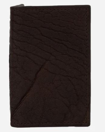 Tarjetero Librito Bisonte Chocolate Chocolate