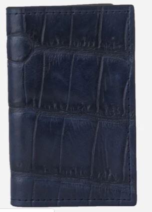 Tarjetero Libro Cocodrilo azul
