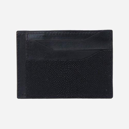 Tarjetero horizontal mantarraya negra negra